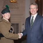Major Jamie Humphries MBE with Secretary of State, Owen Paterson