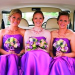 The bridesmaids are ready for the big day.