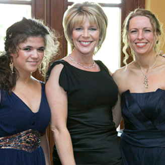 Erin and Karen Fullerton with Ruth Langsford