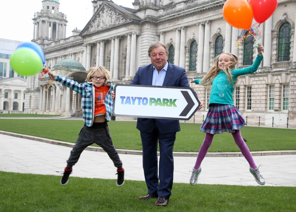 TAYTO PARK CELEBRATES RISE IN VISITORS FROM NI: Amelia and Isaac Bell from Belfast are joined by Tayto Park founder Raymond Coyle as they get ready to embark on a fun filled journey to Ireland's only theme park and zoo. Tayto Park launched its new 2017 season today with the news that a whopping 25 per cent of visitors to the County Meath park now travel from Northern Ireland. As one of the most popular attractions on the island of Ireland, Tayto Park visitor numbers have risen year on year from 330,000 in 2011 to 762,351 in 2016, which means that almost 200,000 thrill seekers from Northern Ireland visited the park last year. Now Tayto Park is gearing up for its biggest season yet as it opens its gates again on Friday April 7, with the promise of exciting new rides and attractions. Tickets for Tayto Park start from €15 per person with discounts available when booking online. To find out more go to www.taytopark.ie, call 01 835 1999 or follow on twitter @taytopark or Facebook.