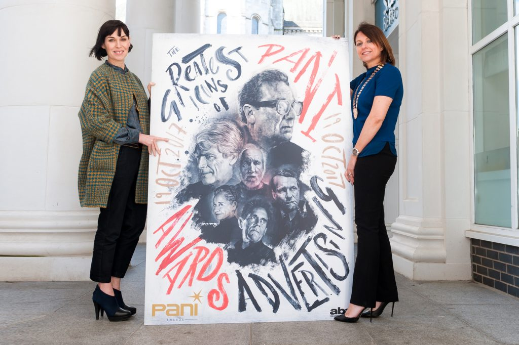 PANI Awards Chair, Nuala Meenahan (left) and PANI Chair, Siobhan Lavery, launch the PANI Awards themed by the advertising 'greats'.