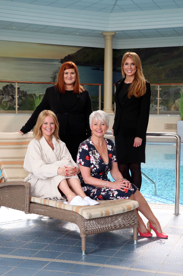 Helen McCune, Manager of The Spa at Slieve Donard and Rachel Crawford, Manager of The Spa at Culloden were joined by guest Laura Parkinson and local personality Pamela Ballantine to launch a unique collection of nurturing face and body treatments for those who are living with, through and beyond cancer.